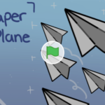 Scratch作品例「Paper Plane || animation」