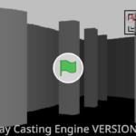 Scratch作品例「レイキャスティングのテクを駆使した3D迷路」
