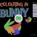 Scratch作品例「Bunny•Colouring」