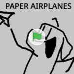 Scratch作品例「PAPER AIRPLANES」